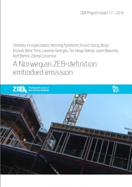 A Norwegian ZEB-definition embodied emission